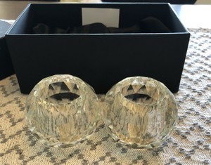 Clear 4 Shannon Crystal Votives 2 Sets Of 2 Style #15749 Decoration