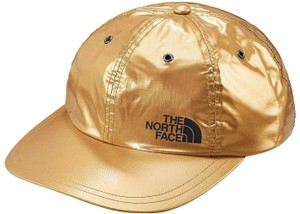Supreme BRAND NEW MEN'S SUPREME X THE NORTH FACE METALLIC GOLD 6 PANEL HAT SS1