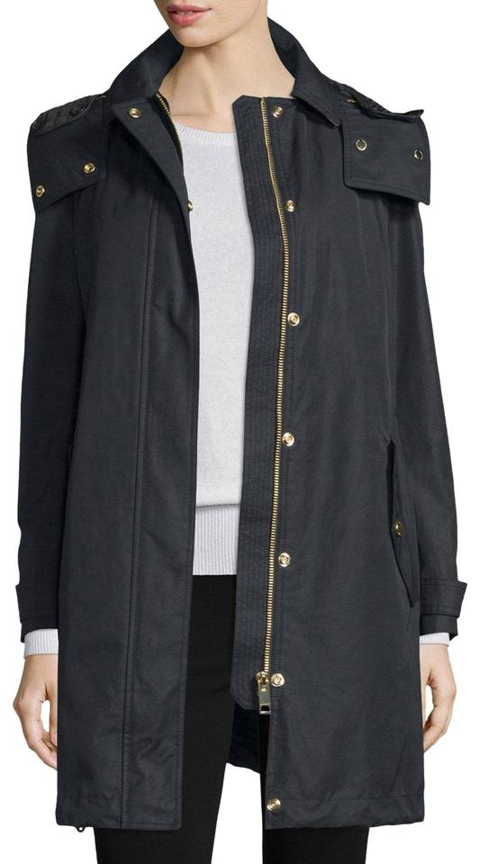 275dc6396 Burberry Black Womens Harlington Hooded Parka Jacket Us Eu 40 Coat ...