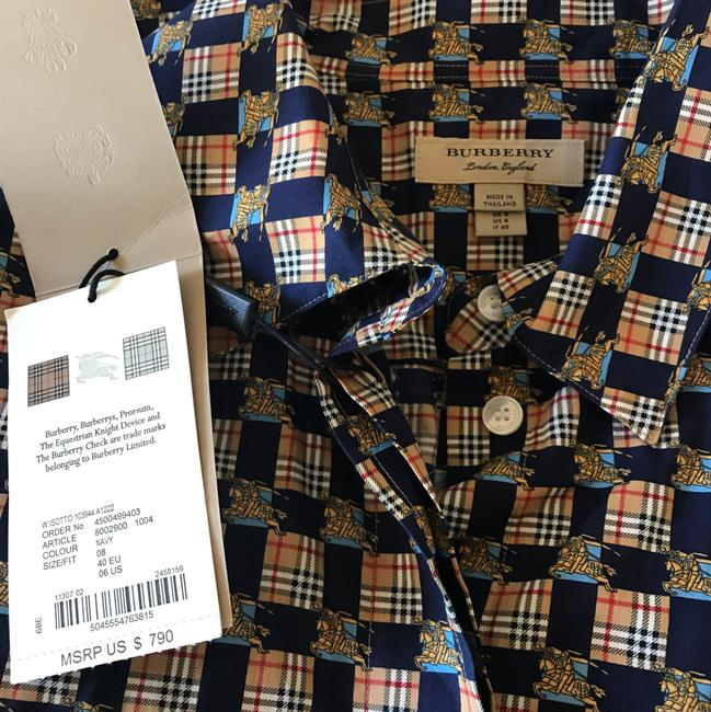 Burberry Burberry Check Button-Front Shirt Dress Image 1