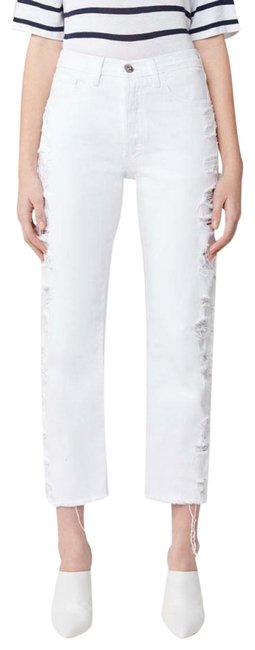 Anthropologie White 3x1 W3 Higher Ground Distressed Capri/Cropped Jeans Size 27 (4, S) Anthropologie White 3x1 W3 Higher Ground Distressed Capri/Cropped Jeans Size 27 (4, S) Image 1
