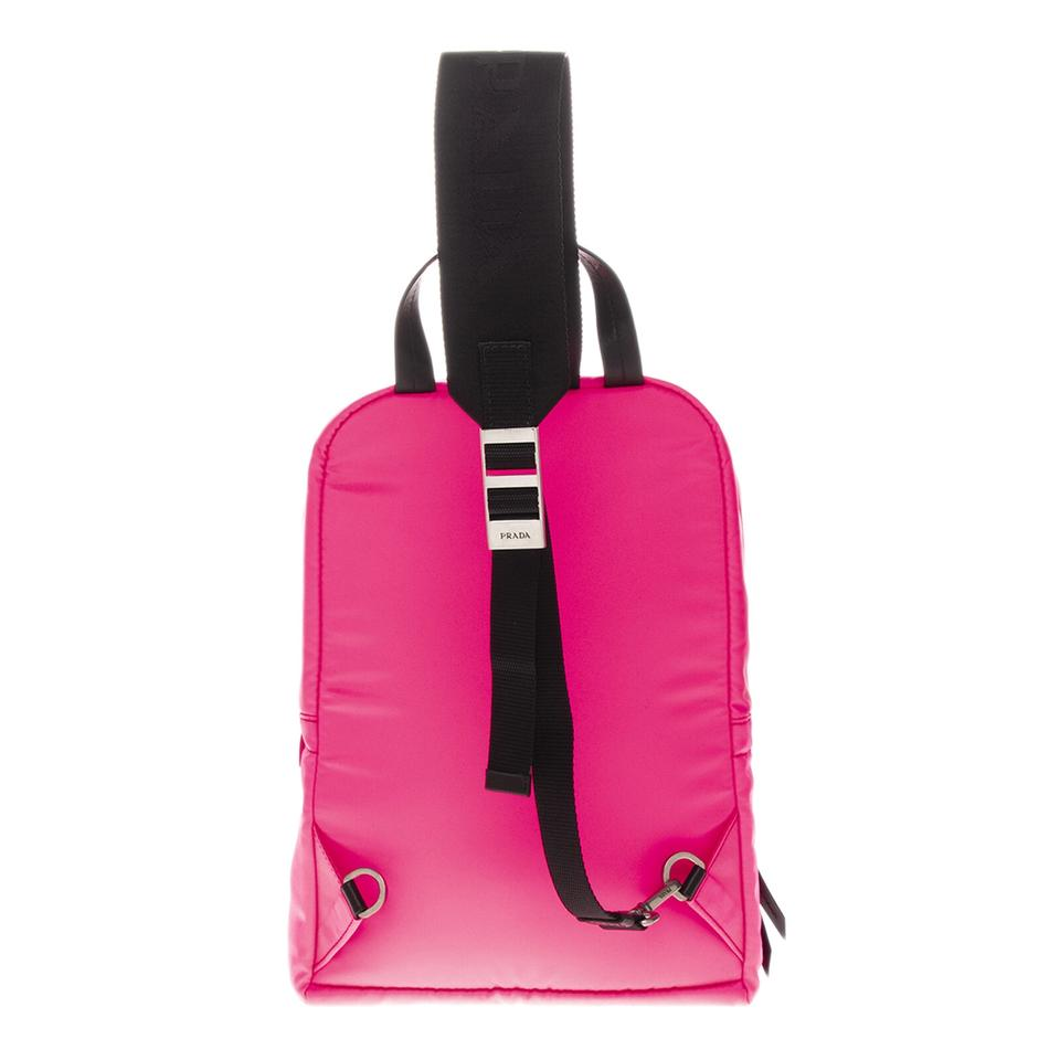 1bd7d2b951b1 Prada Nylon Leather One Shoulder Neon Pink Rose Backpack - Tradesy