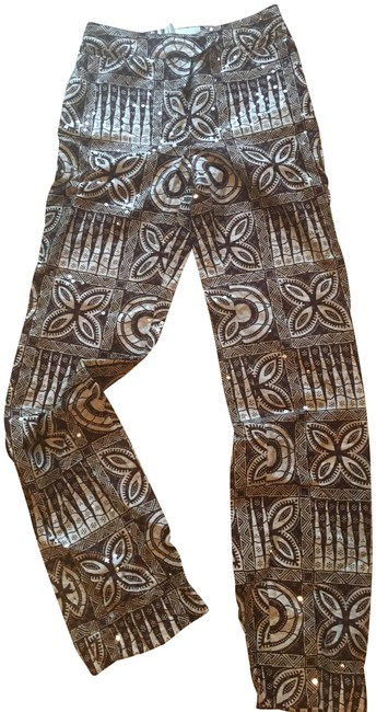 Item - Brown / Off White Mid 90's Pants Size 6 (S, 28)