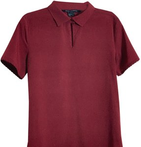 French Connection T Shirt Maroon