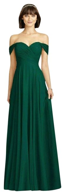Item - Hunter (Green) Collection Style 2970 Lux Off The Shoulder Chiffon Gown Long Formal Dress Size 8 (M)