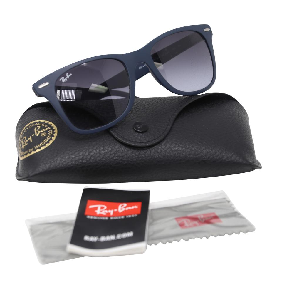 7f4039017 Ray-Ban Blue Rb4195 Wayfarer Liteforce Gray Gradient Lens Sunglasses -  Tradesy