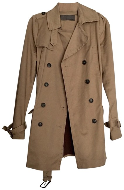 Item - Camel Brown Trench Coat Jacket Size 4 (S)