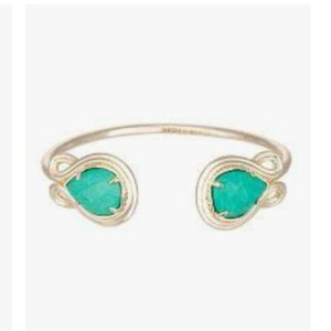 Kendra Scott Kendra Scott Teal Gold Andy Cuff Bracelet