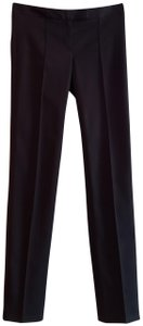 Theory Slim Leg Dressy Cotton Straight Pants Black