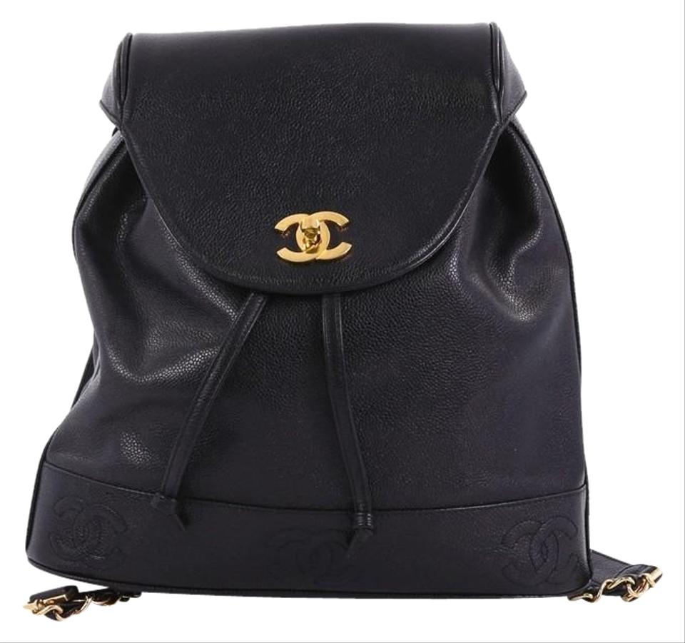 7caa84d940c5 Chanel Backpack Vintage Caviar Medium Black Leather Backpack - Tradesy