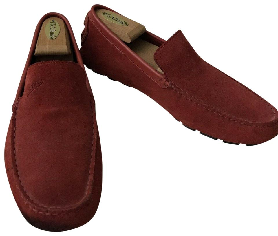 208a20c871c Gucci Red Men s Suede Loafers Pumps Size US 7 Regular (M