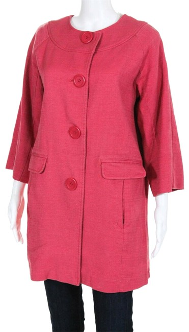Item - Red Twill Swing Spring Jacket Us (Uk 12) Coat Size 8 (M)