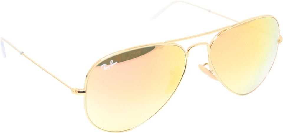 7f3ed9d22dd Ray-Ban Gold RB3025 Aviator Full Color Large Metal Frame 58mm Sunglasses  Image 0 ...