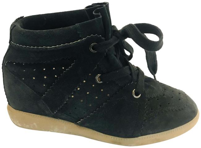 Item - Navy Bobby Wedge Stainer Basket Trainers Sneakers Size EU 40 (Approx. US 10) Regular (M, B)
