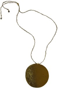 Anthropologie Anthropologie Gold Round Plaque Necklace