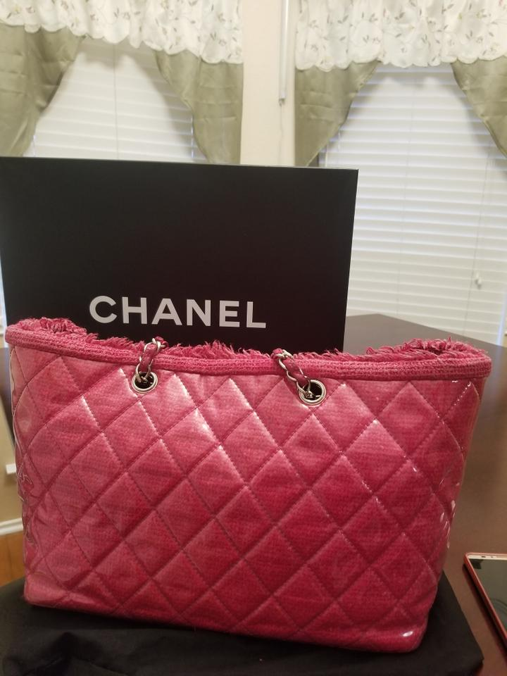40748ef3ffe2 Chanel Tote Cc Shopping Pink Patent Leather Shoulder Bag - Tradesy