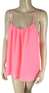 Dainty Hooligan Scoop Scoop Back Tank Top Pink