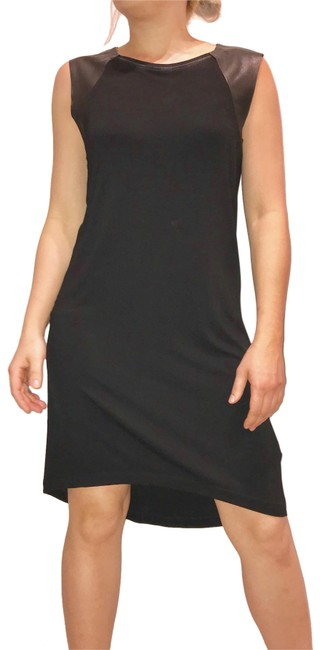 AllSaints short dress black Leather on Tradesy Image 0