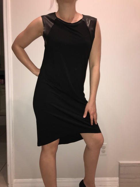 AllSaints short dress black Leather on Tradesy Image 1