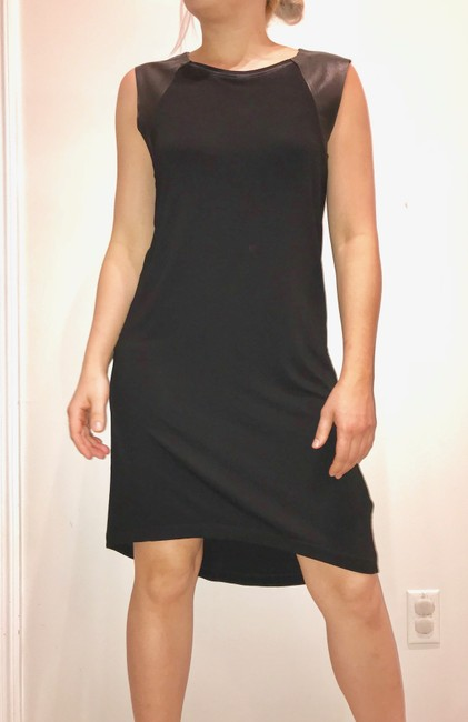 AllSaints short dress black Leather on Tradesy Image 11