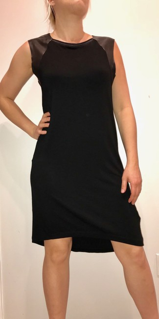 AllSaints short dress black Leather on Tradesy Image 3