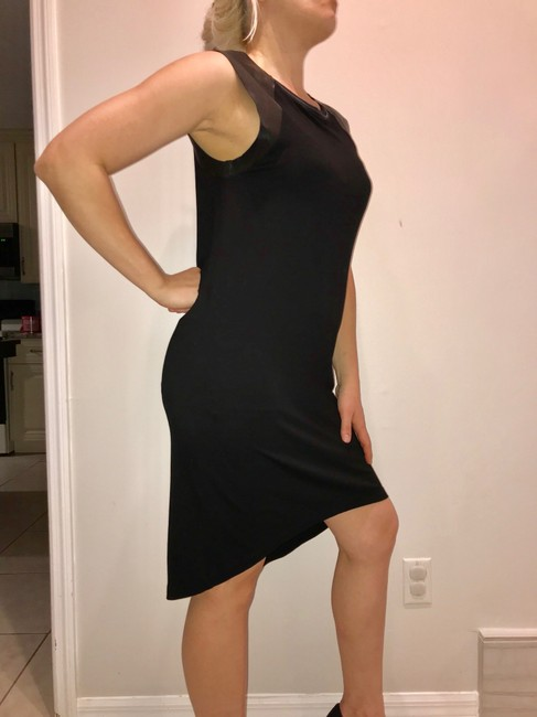 AllSaints short dress black Leather on Tradesy Image 4
