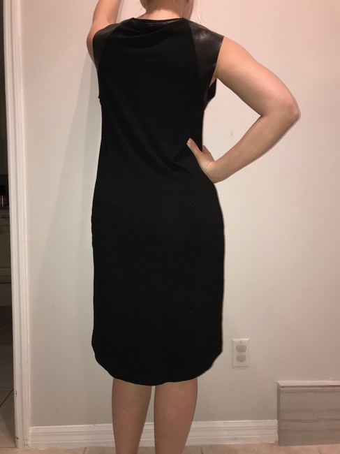 AllSaints short dress black Leather on Tradesy Image 5