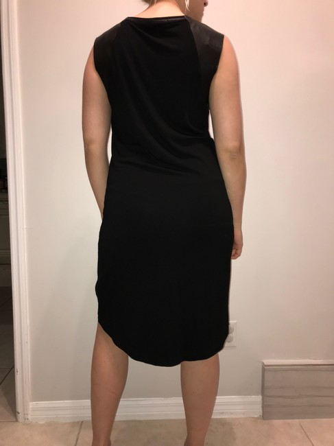 AllSaints short dress black Leather on Tradesy Image 6