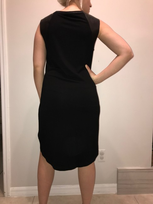 AllSaints short dress black Leather on Tradesy Image 7