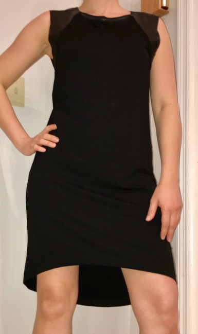 AllSaints short dress black Leather on Tradesy Image 9