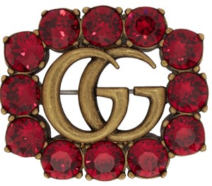 Gucci GG Crystal Brooch Small
