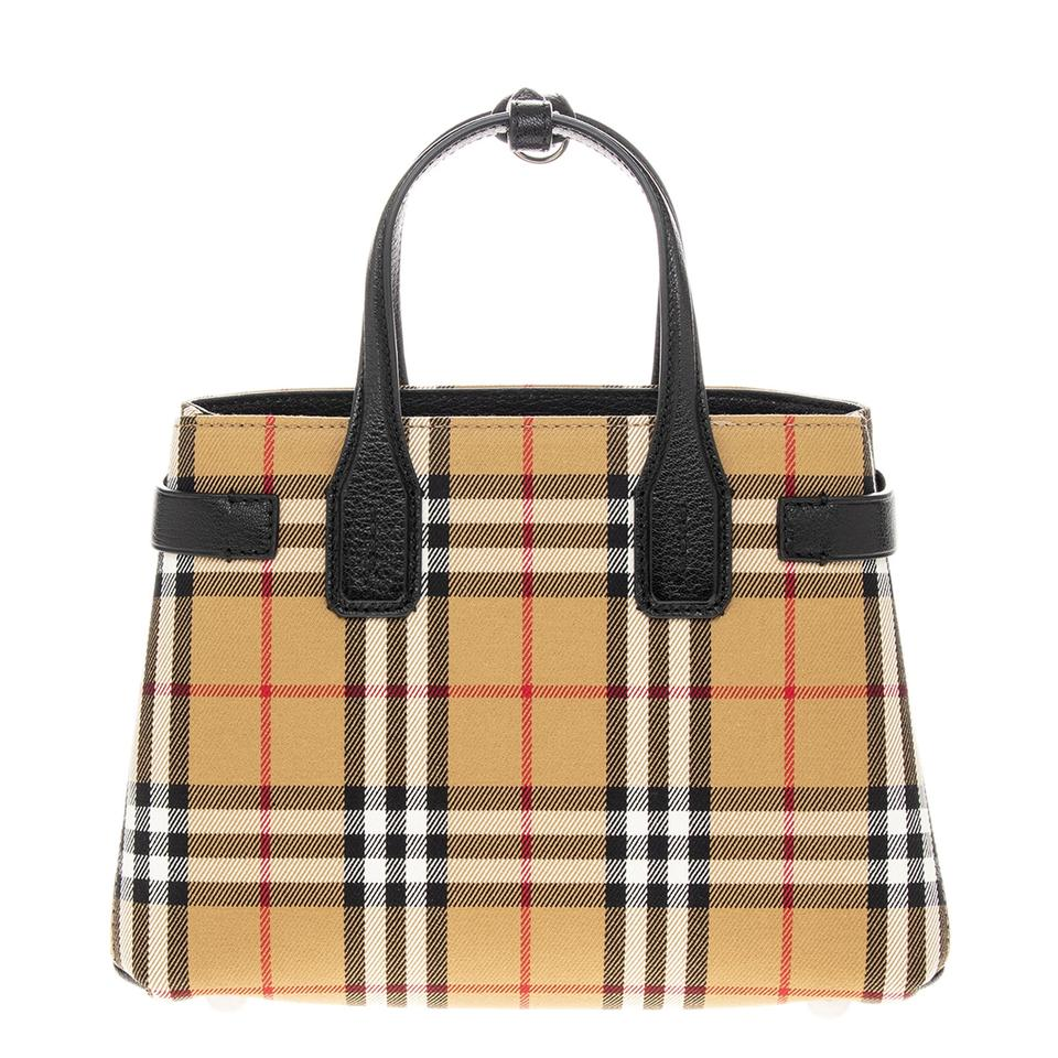f0c9bce5c545 Burberry Women s Small Banner In Vintage Check and Leather Black ...