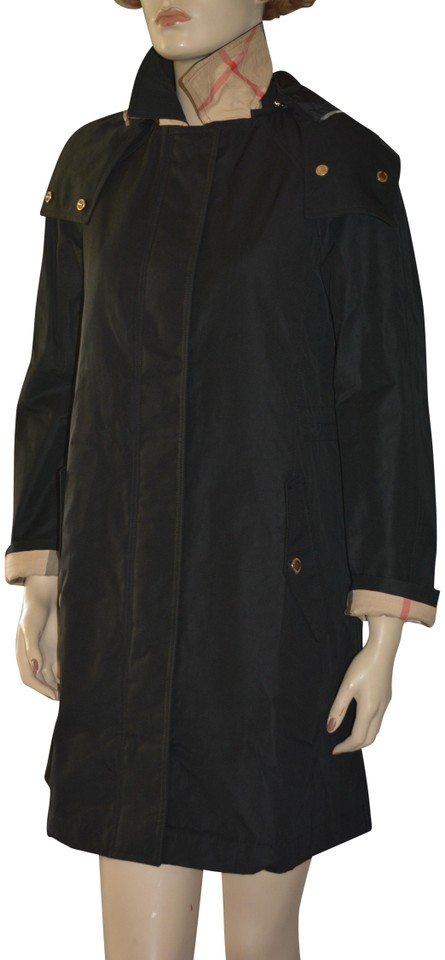 5a123b471 Burberry Black Harlington Hooded Parka Jacket Us Eu 44 Coat Size 10 ...