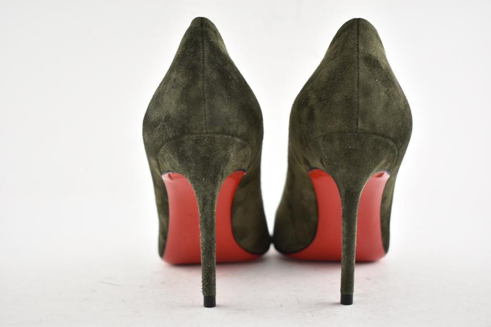 b100778ea41b Christian Louboutin Pigalle Follies Stiletto Suede Classic green Pumps  Image 7. 12345678