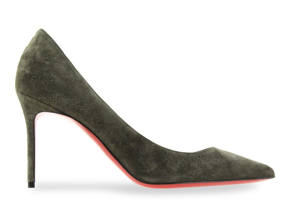 ae04254c1 Christian Louboutin Pigalle Follies Stiletto Suede Classic green Pumps  Image 0 ...