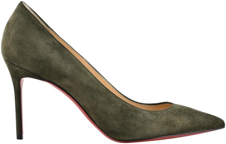 dc392641c178 Christian Louboutin Pigalle Follies Stiletto Suede Classic green Pumps  Image 0 ...