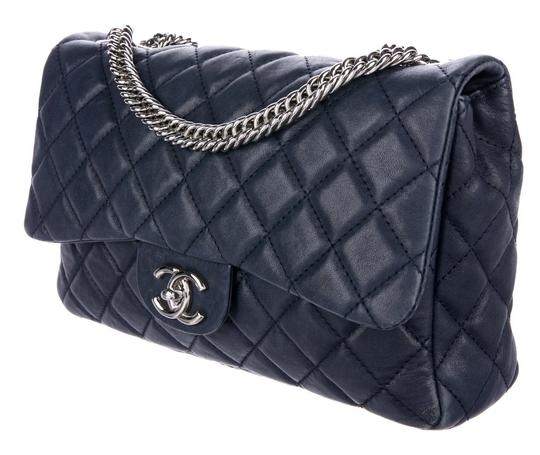 Chanel Double Classic Flap Cc Logo Quilted Lambskin Soft Jumbo Shoulder Bag Image 1