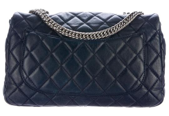 Chanel Double Classic Flap Cc Logo Quilted Lambskin Soft Jumbo Shoulder Bag Image 2