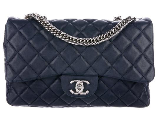 Chanel Double Classic Flap Cc Logo Quilted Lambskin Soft Jumbo Shoulder Bag Image 3