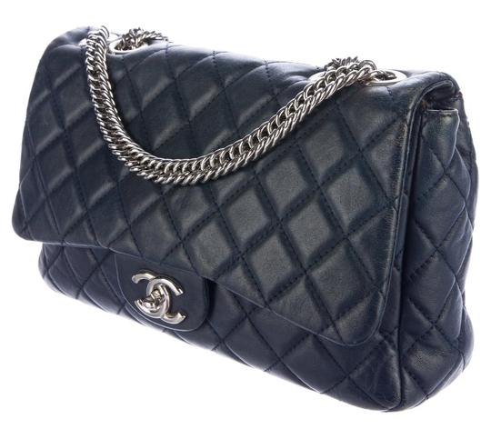 Chanel Double Classic Flap Cc Logo Quilted Lambskin Soft Jumbo Shoulder Bag Image 4