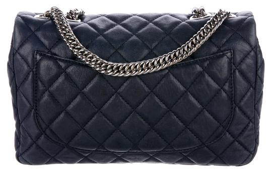 Chanel Double Classic Flap Cc Logo Quilted Lambskin Soft Jumbo Shoulder Bag Image 5