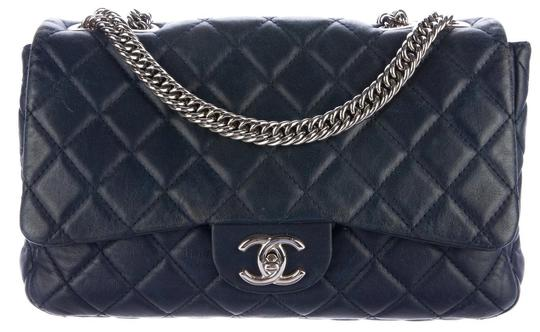 Chanel Double Classic Flap Cc Logo Quilted Lambskin Soft Jumbo Shoulder Bag Image 6