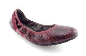 Cole Haan Slip On Ballerina Purple Round Toe Dark pink Flats
