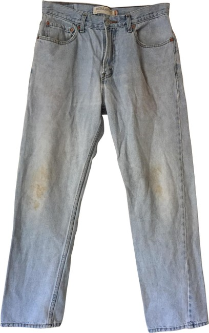 Item - Blue Distressed 505 Vintage Relaxed Fit Jeans Size 34 (12, L)