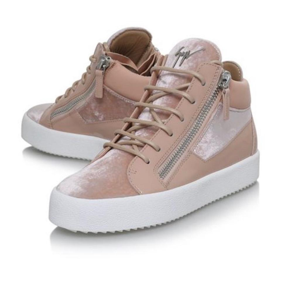 787ff658e7b45 Giuseppe Zanotti Pink Velvet/Rubber May London High-top Sneakers. Size: US  6 Regular (M ...