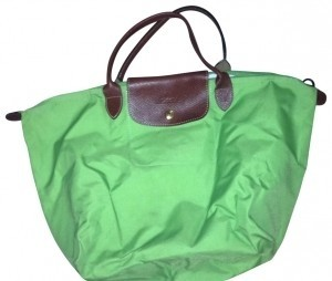 Longchamp Tote in lime green
