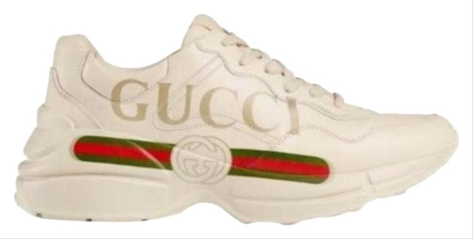 5c060f7ed8c5a Gucci Rhyton Logo Printed Leather Dad Sneakers Sneakers Size US 7.5 ...
