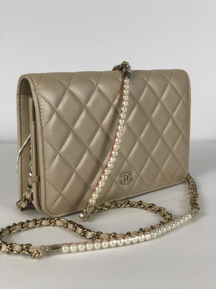 871a1f1a67c4 Chanel Wallet on Chain Pearl My Shoulder Metallic Gold Calfskin ...