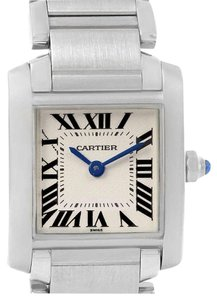 Cartier Cartier Tank Francaise Small Silver Dial Steel Ladies Watch W51008Q3