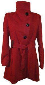 Steve Madden Flaired Fitted Trench 006 Pea Coat